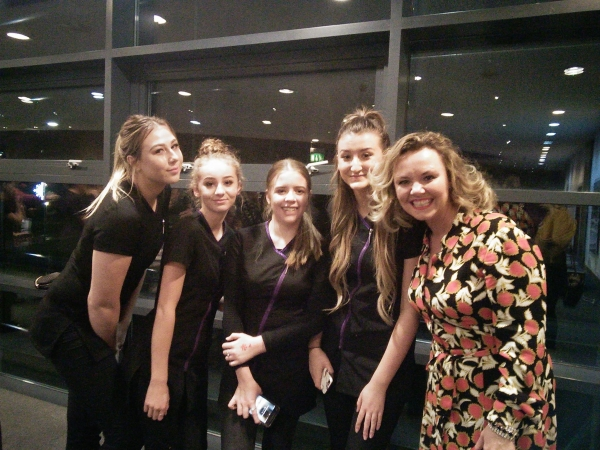 Serenity Salon students bring festive sparkle to the Grove Theatre for their pantomime press launch!